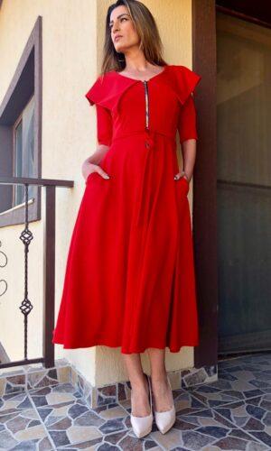 Bloom Red Dress pe comanda