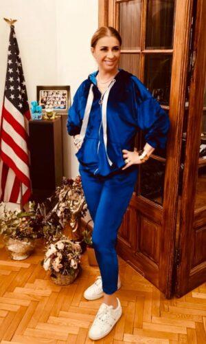 Fairy Satin Suit / Blue
