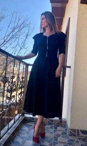 Bloom Black Dress pe comanda