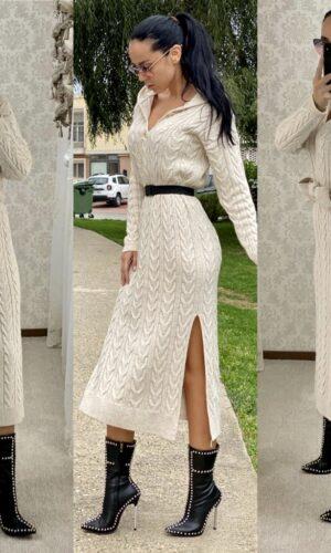 Rochie gluga tricot Hood