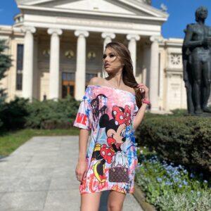 Rochie-tricou dreapta Minnie Fashionista
