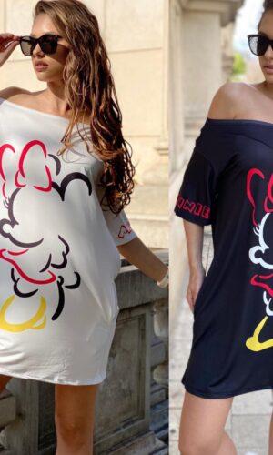 Rochie-tricou dreapta Simple Minnie