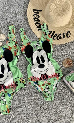 Costum de baie/Body verde AX Mickey
