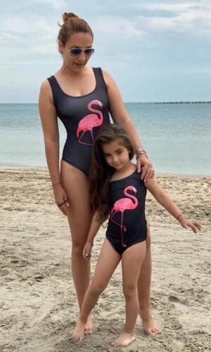 Oferta mama și fiica costum baie/body